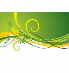 design with waves and leaves vector image vector image