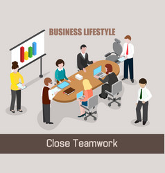 flat isometric business people vector image