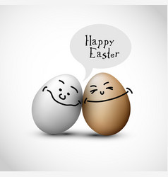 Funny easter eggs vector