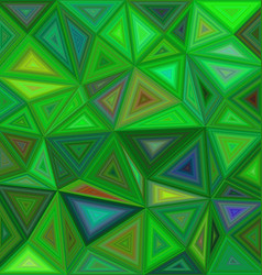 Green irregular triangle mosaic background design vector