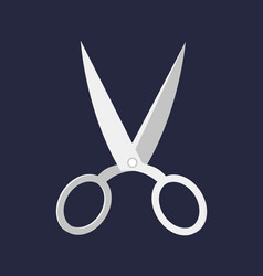 Hairdresser handle shape line work art scissors vector