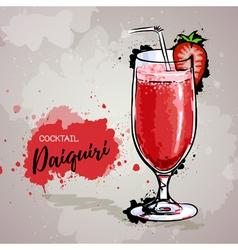 Hand drawn cocktail daiquiri vector