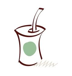 icon drink vector image vector image