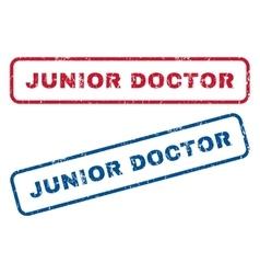 Junior doctor rubber stamps vector