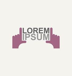 logo hands vector image