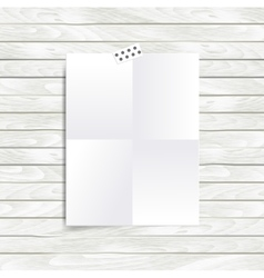 Mock up with folded in four blank vector image