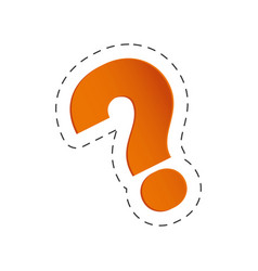 Orange question mark image vector