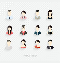 People icons People Flat icons collection vector image vector image