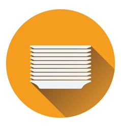 Plate stack icon vector image