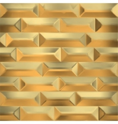 seamless gold wall vector image