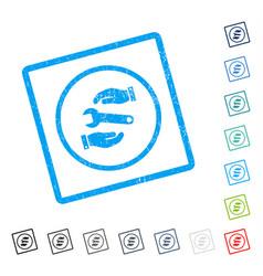Service icon rubber watermark vector