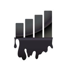 Splash bars petroleum oil industry icon vector