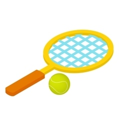 Tennis game isometric 3d icon vector image vector image
