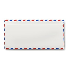 View of backside of sealed dl air mail envelope vector