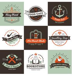 vintage logos design concept vector image