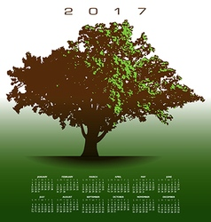 A large glorious old oak tree 2017 calendar vector image