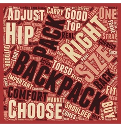How to choose a right backpack text background vector