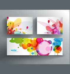 Set of abstract colorful cards and web banner vector