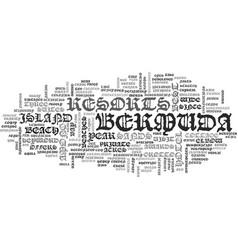 Bermuda resorts text word cloud concept vector