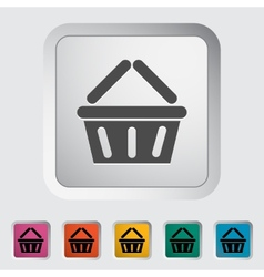 Basket for products vector image