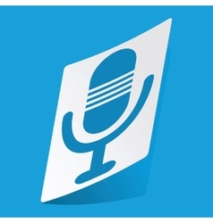 Microphone sticker vector