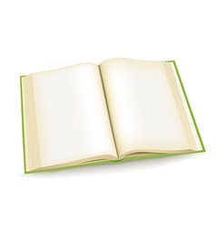 Open green book vector