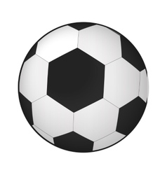 Soccer ball isometric 3d icon vector
