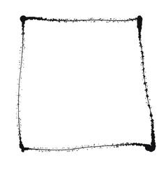 Black grunge frame isolated on the white vector image