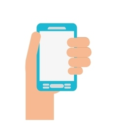 Human hand smartphone mobile vector