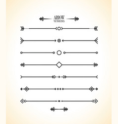 abstract arrow line set vector image vector image