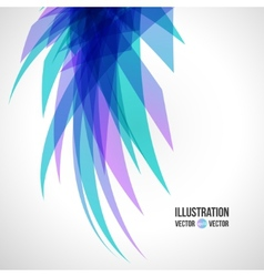 abstract background of blue fragments vector image