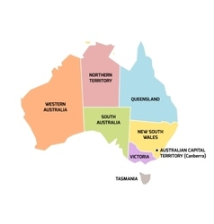 Australia map with states and territories vector image vector image
