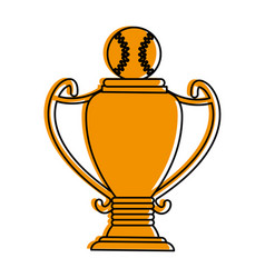 Baseball ball icon image vector