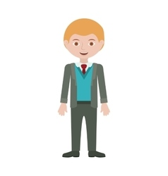 Blond man with formal suit and bussines vector