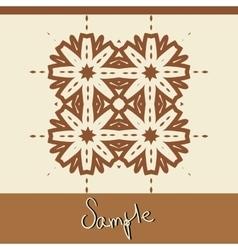 Brown ornamental Print in oriental style handmade vector image