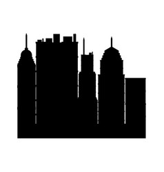 Building towers high town image silhouette vector