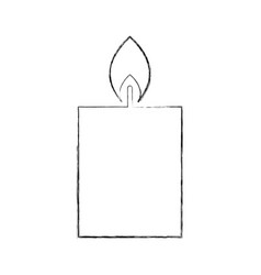 candle christmas flower decoration festive vector image