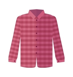 Checkered red shirt flat style vector