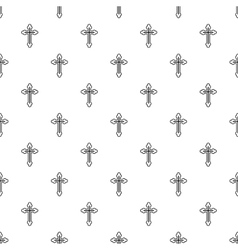 Christian cross pattern simple style vector image