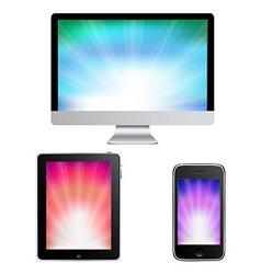 Contemporary gadgets vector