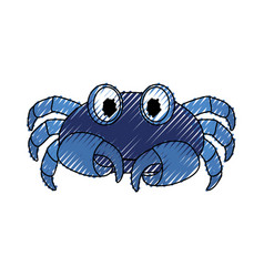 cute crab cartoon vector image vector image
