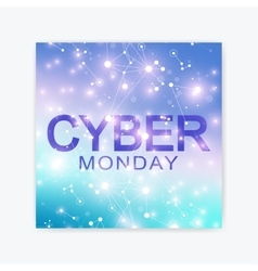 Cyber monday sale flyer design template graphic vector