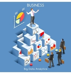 Data analytics people isometric vector