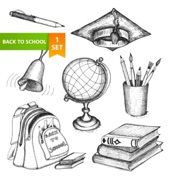 Education school set vector image