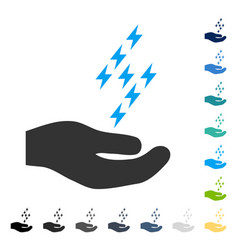 Electric energy offer hand icon vector