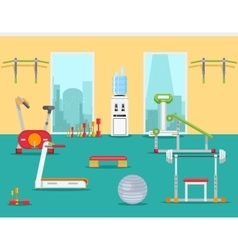 Fitness gym in flat style vector