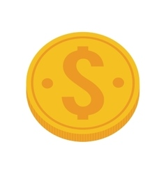 Gold coin money dollar vector