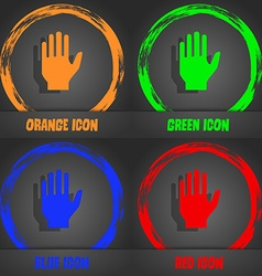 Hand print sign icon stop symbol fashionable vector