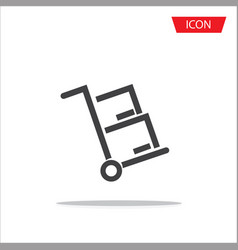 Handcart icon for web site and application vector