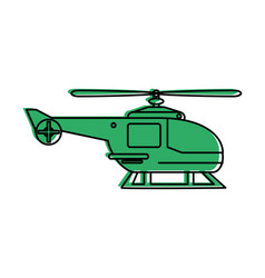 Helicopter sideview icon image vector